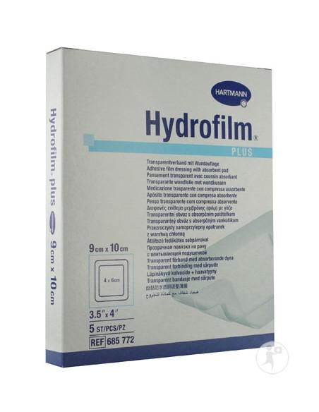 Apósito Transparente HYDROFILM PLUS 9 cm x 10 cm. Caja 5 uds