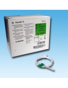 Palometas VENOFIX G-23, Aguja 0,6x20 azul Caja 50 unidades.