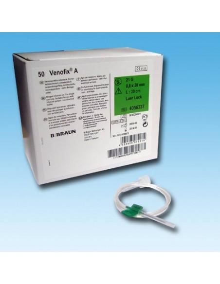 Palometas VENOFIX G-27, Aguja 0,4x10 gris Caja 50 unidades.