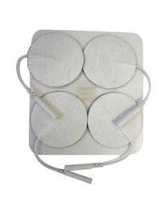 Pack 4 Electrodos Estimulador/Tens 32 mm., de Ø.