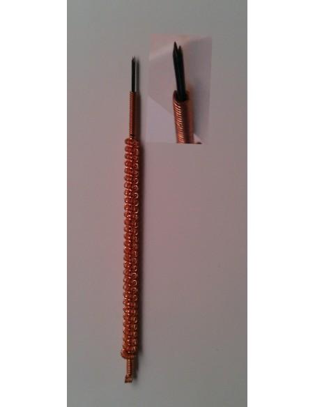 Aguja de fuego de 3 Cabezas 1,0x33 mm