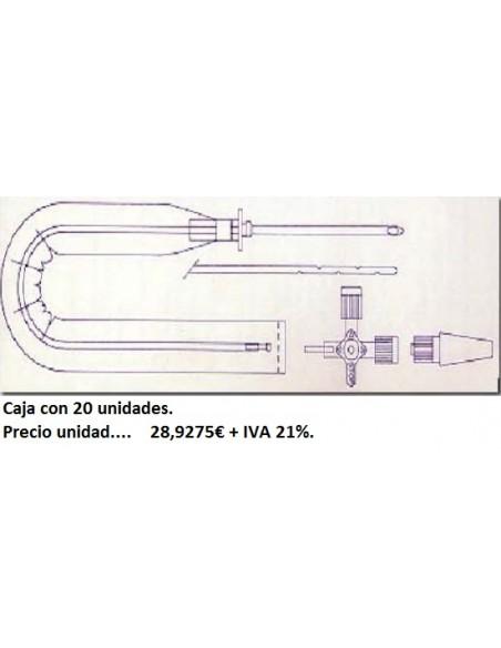 Sistema drenaje Torácico PLEUROCATH Adulto CH-10 libre de lá