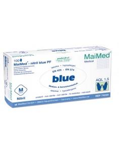 Guante MaiMed Nitrilo Blue Sin Polvo Talla XL.