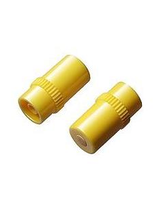 Tapón Intermitente LUER LOK amarillo, Caja 100 unidades.