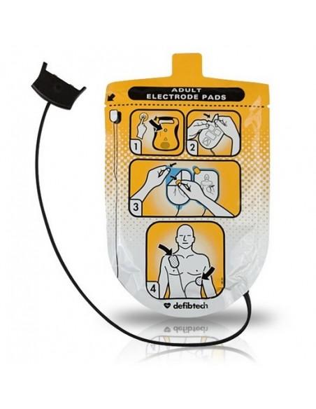 Pack Electrodos Desfibrilador DEFIBTECH, Adultos.