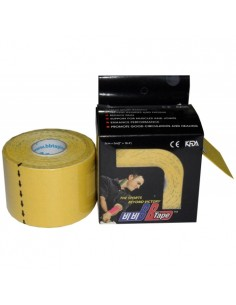 Venda Neuromuscular BB Tape Amarillo 5cmx5cm