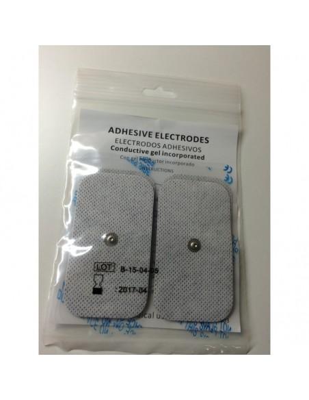Electrodo Adhesivo 50x90 mm., conexión CLIP, Bolsa 4 unidade