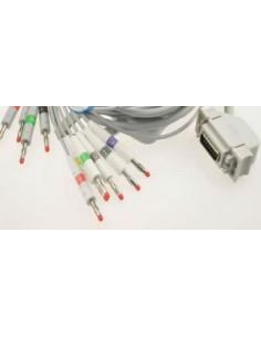 Cable E.C.G. Fukuda Cardimax 7102, Adaptador BANANA.