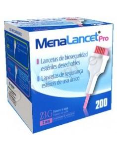 Lanceta de bioseguridad MenaLancet Pro 23G. Caja 200 unidade