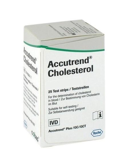 ACCUTREND Colesterol, Ref.: 11418262 171, Caja 25 tiras