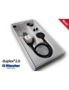 Fonendoscopio Riester Duplex 2.0, Acero Inoxidable. AZUL.