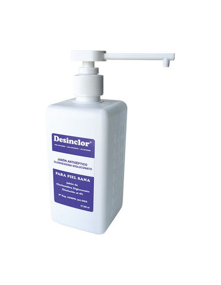 DESINCLOR Jabón 500 cc., Clorhexidina Digluconato 20%( Antis