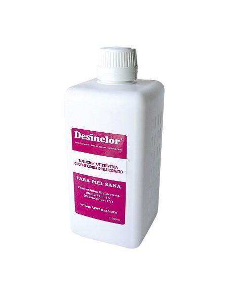 DESINCLOR Solución 500 cc. (Antiseptico con Clorexidina)