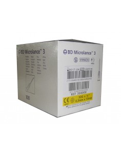 Aguja Hipodérmica 0,30x13 30G 1/2, Caja 100 unidades.