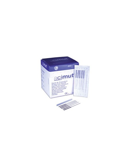 "Aguja de acupuntura estéril ""ACIMUT"" 0,26x25 mm. Caja 100 un"