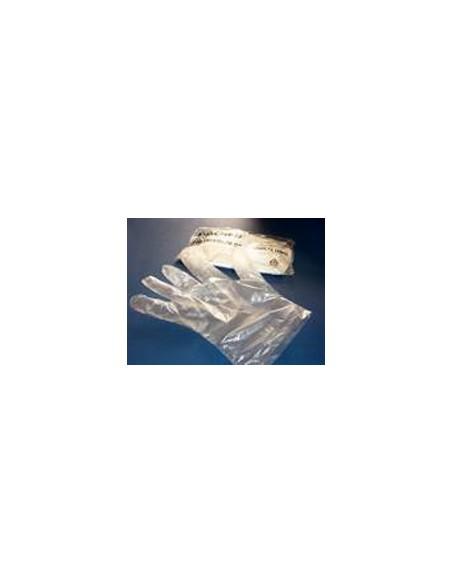 Guante Tacto Plástico Estéril Caja 100 unidades.