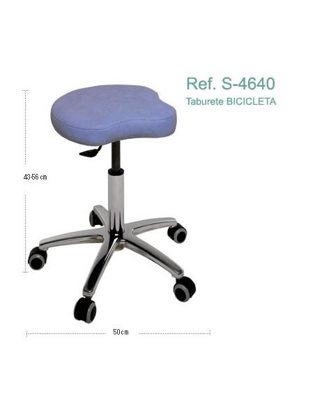 Taburete BICICLETA con base cromada. Ref. S-4640
